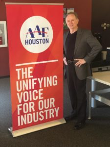 John Manlove is Chairman-elect of American Advertising Federation- Houston chapter