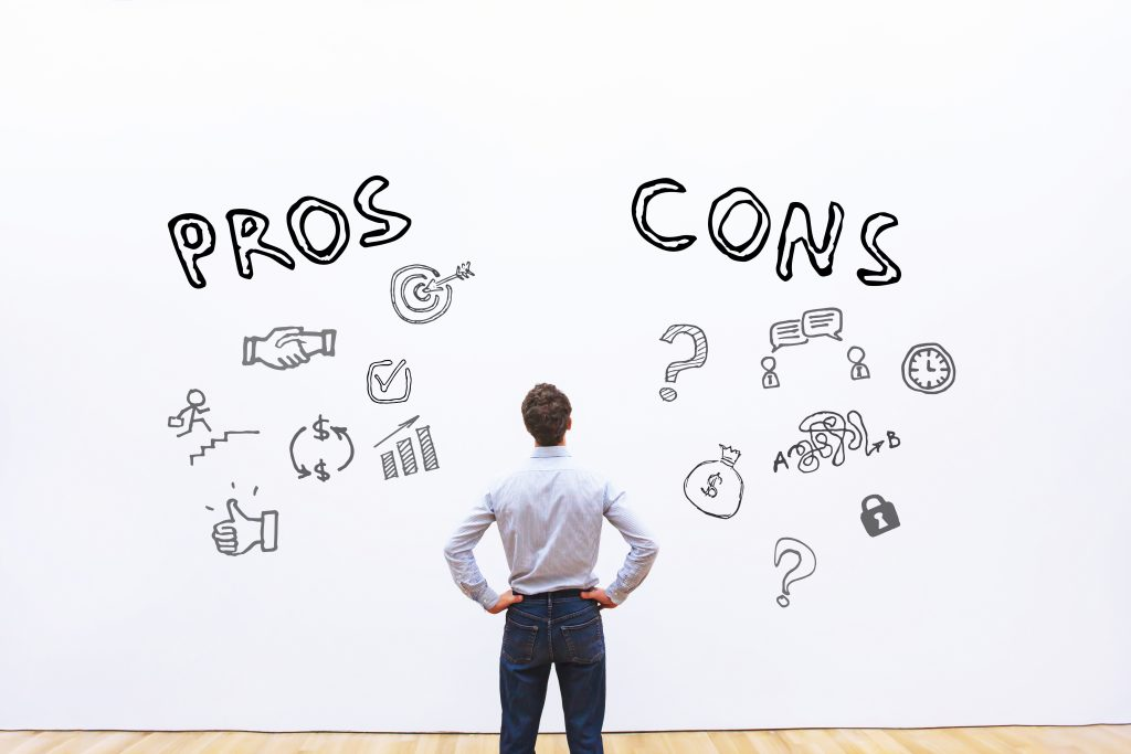 Weight the business marketing pros and cons.